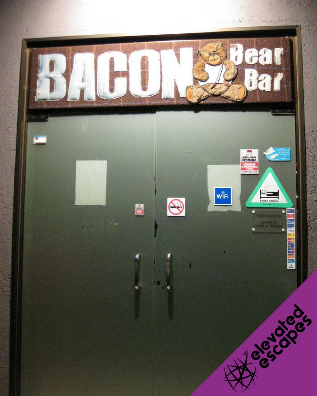 Bacon Bear Bar Entrance