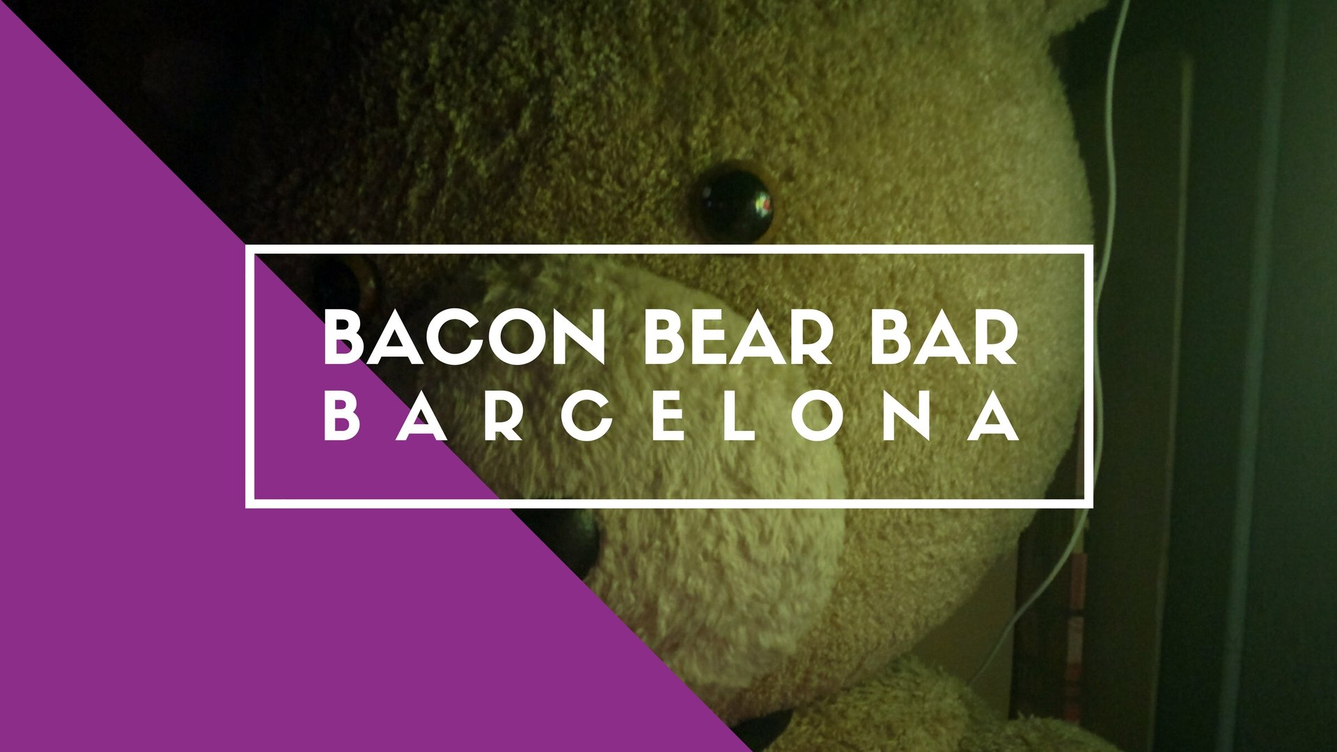Bacon Bear Bar, Barcelona