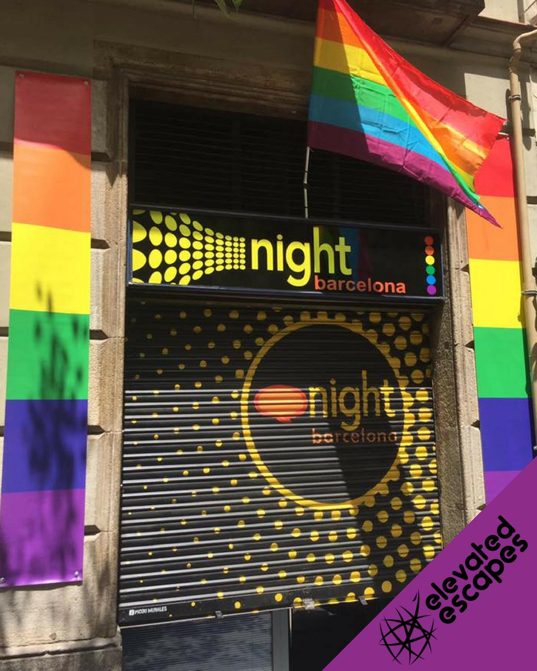 Night Barcelona Entrance